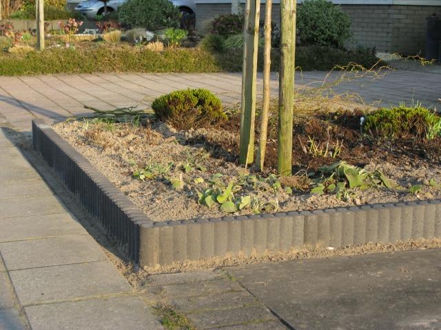 ... : Stenen Muur Voortuin: A van spelde hoveniers tuin overkapping